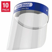 Reusable Washable Protective Face Shield / Visor - 10-Pack