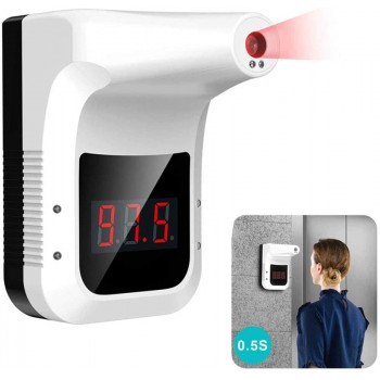 K3 Wall / Pole Mountable Non-Contact Infrared Thermometer w/ Fever Alarm