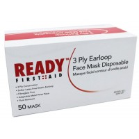 3-PLY Earloop Disposable Adult Face Mask Case of 50
