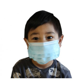 3-PLY Earloop Disposable Kids Face Mask Case of 50
