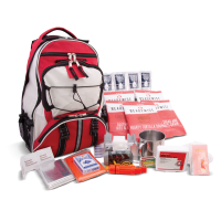 ReadyWise 64 Piece Survival Backpack - Red