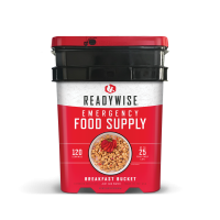 ReadyWise Breakfast Only Grab and Go Bucket - 120 Serving